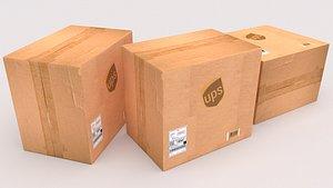 UPS Cardboard Box 3D model