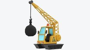 toon cartoon crane model