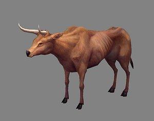 Scrawny buffalo model