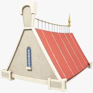 3D stylized roof model
