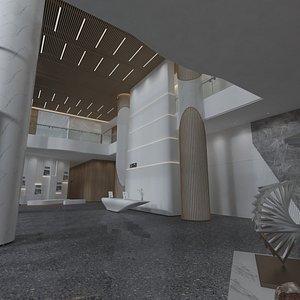 3D Office Building Lobby - Reception Hall 2