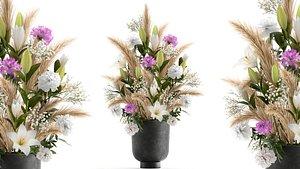 Bouquet of flowers in a Vase 113 3D model