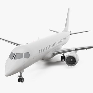 regional jet exterior 3D model