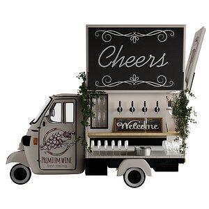 3D foodtruck bar cheers