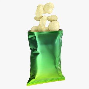 mockup folds potato 3D model