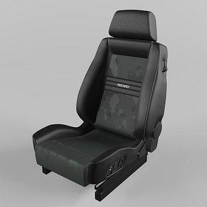 3D RECARO Ergomed ES Leather black Artista black Seat model