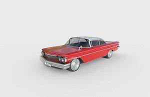3D Low Poly Car - Pontiac Ventura 1960