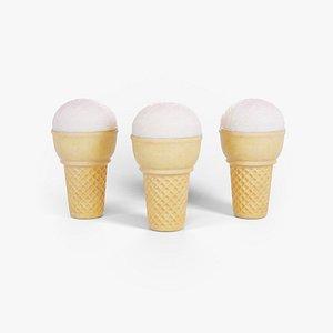 3D Ice Cream Cone Ball