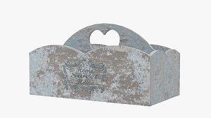 3D Shabby Chic Wooden Box model