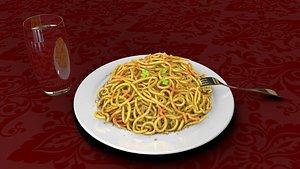 spaghetti pasta fork 3D model