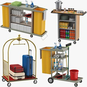Hotel Carts Collection 3D model