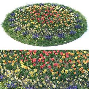 Flowerbed 6 3D model