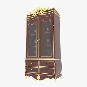 3D Victorian Cabinet Mahogany model