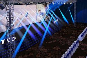 3D truss hall event