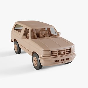 3D 1992 Ford Bronco