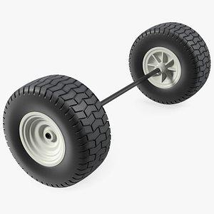 3D model Wheel Axle