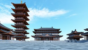 3D Chinese Building 26 model