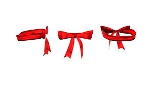 Womens Gift Wrap Ribbon Bra 3D