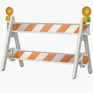 roadworks barricade warning model