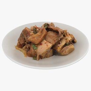 thai basil chicken 3D model