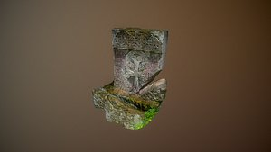 3D Cross stone