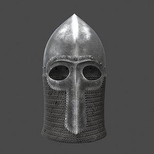 3D medieval helmet helm