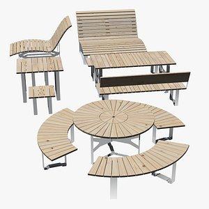 Urban pack furniture 3D