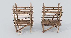 Wooden Scaffolding model