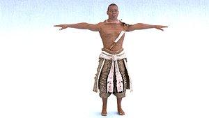 3D African Male 03 model