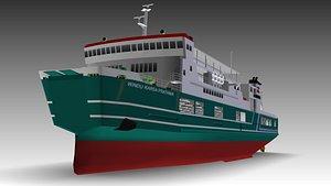 ferry ship 3D