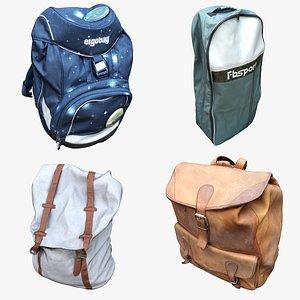3D Bag Backpack Collection 11 model