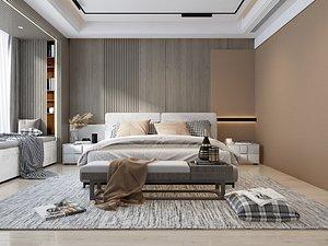 3D Modern Style Bedroom - 604