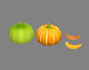 3D vegetables food