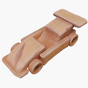 car toy wood 3D model