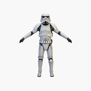 3D model stormtrooper storm trooper