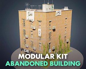 3D Abandoned building modular kit