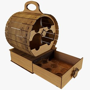 3D Barrel Wine Rack