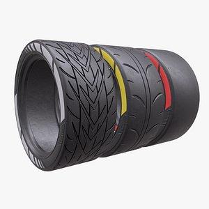 3D slick tire model