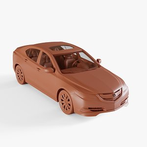 3D acura tlx 2014 model