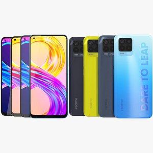 3D Realme 8 Pro All Colors model
