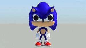 3D Sonic Funko Pop Style