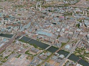 3D glasgow city