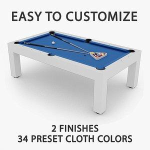 3D pool table pbr model