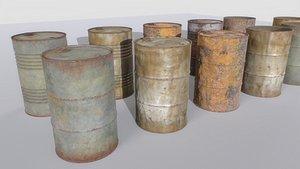 Rusty Barrels Pack 3D model