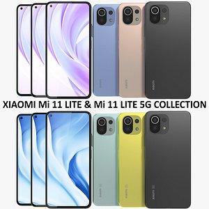 Xiaomi Mi 11 Lite and 11 Lite 5G Collection 3D model