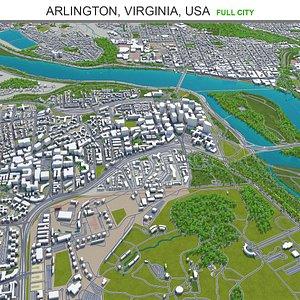 3D Arlington Virginia USA model
