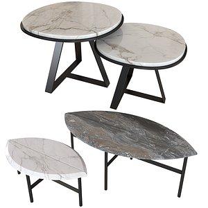 3D set coffee tables meridiani