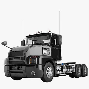 3D semi truck day model