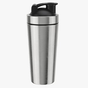 Stainless Steel Protein Shaker Bottle 3D