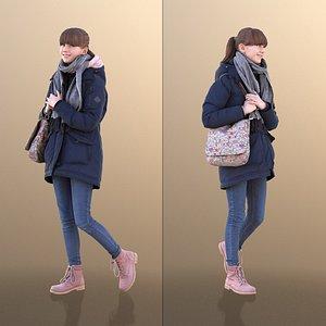 3D girl young school